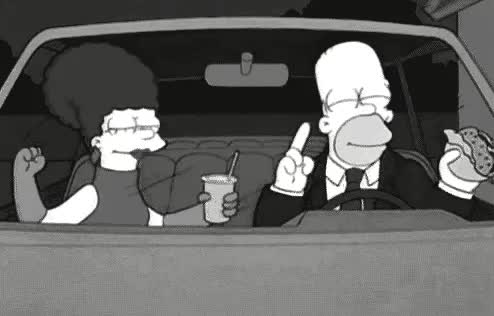 car, cars, celebrate, dance, date, homer, hommer, marge, mood, party, simpson, simpsons, the simpsons, transportation, Celebrating GIFs