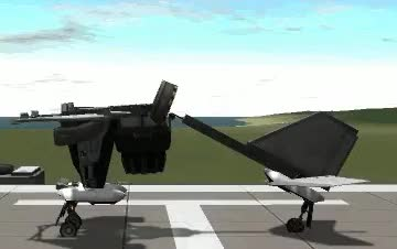 Watch Folding VTOL : KerbalSpaceProgram GIF on Gfycat. Discover more related GIFs on Gfycat