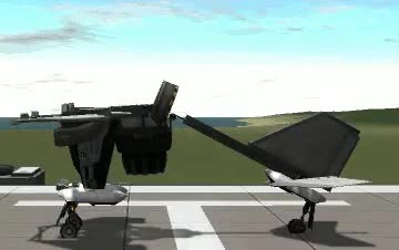Folding VTOL : KerbalSpaceProgram GIFs