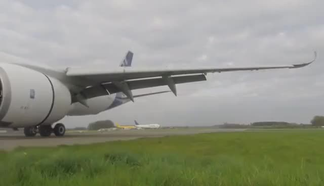 Watch and share Airbus A350-941 Unbelievable Short Landing, Runway Edge GoPro Footage, Cotswold Airport (Kemble) GIFs on Gfycat