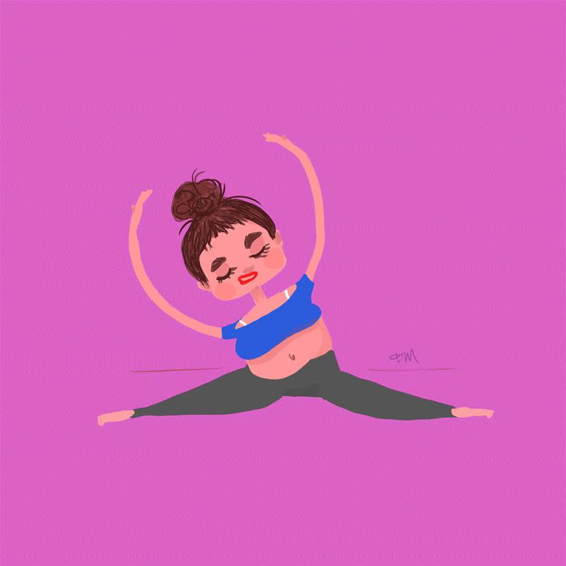 girl, hard, hurt, meditation, ogh, out, pink, relax, strech, sweat, tough, trying, woman, work, yoga, zen, Yoga GIFs