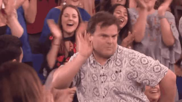 Watch this jack black GIF by GIF Queen (@ioanna) on Gfycat. Discover more black, can't, ellen, funny, guy, hear, jack, listen, make, noise, rock, school, show, some GIFs on Gfycat