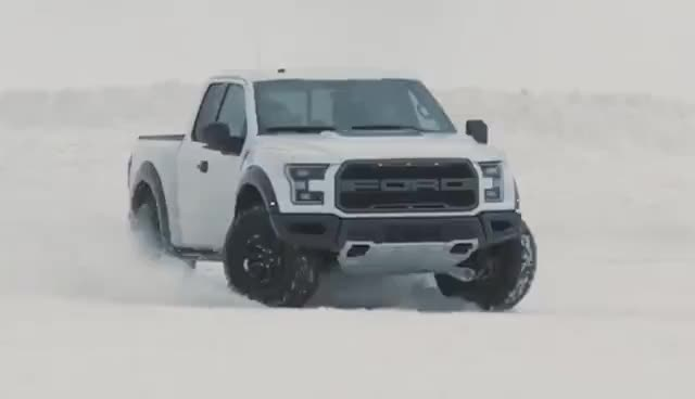 Watch and share Ken Block Unleashes The 2017 Ford F-150 Raptor On Winter | F-150 Raptor | Ford Performance GIFs on Gfycat
