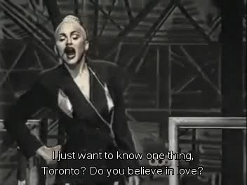 Watch Madonna plays her Blond Ambition tour to Toronto on May 27,  GIF on Gfycat. Discover more blond ambition, express yourself, madonna, toronto GIFs on Gfycat