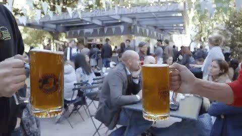 alcohol, beer, cheers, good, luck, oktoberfest, good luck beer GIFs