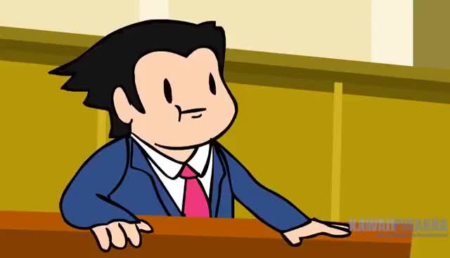 Watch and share Your Average Ace Attorney Trial (Ace Attorney Parody) [Panoots Cartoons] GIFs on Gfycat