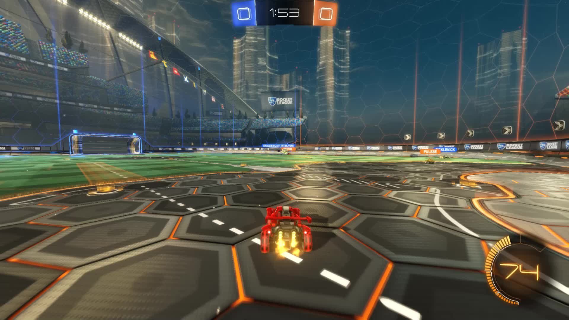 Gif Your Game, GifYourGame, Goal, Jus10, Rocket League, RocketLeague, ⏱️ Neat little team play GIFs