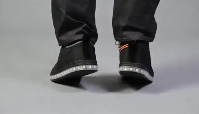 Watch and share Firewalker LED Sneakers GIFs on Gfycat