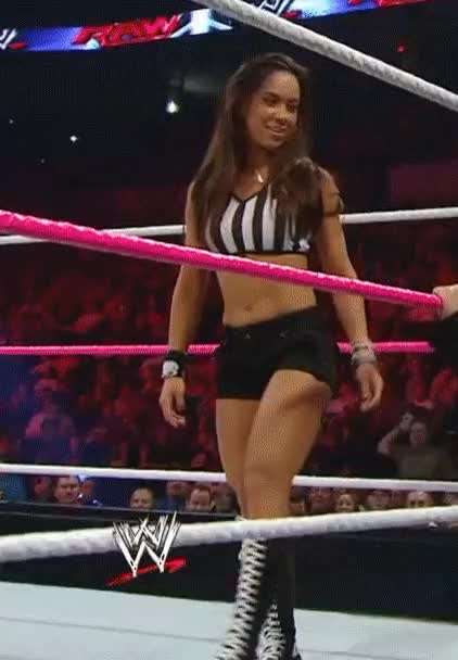 Watch and share Ref AJ Lee (14 MIC) (reddit) GIFs by WrestleVids on Gfycat
