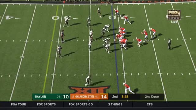 Watch and share Justice Hill 79-Yard TD Against Baylor 2017 GIFs by Pistols Firing on Gfycat