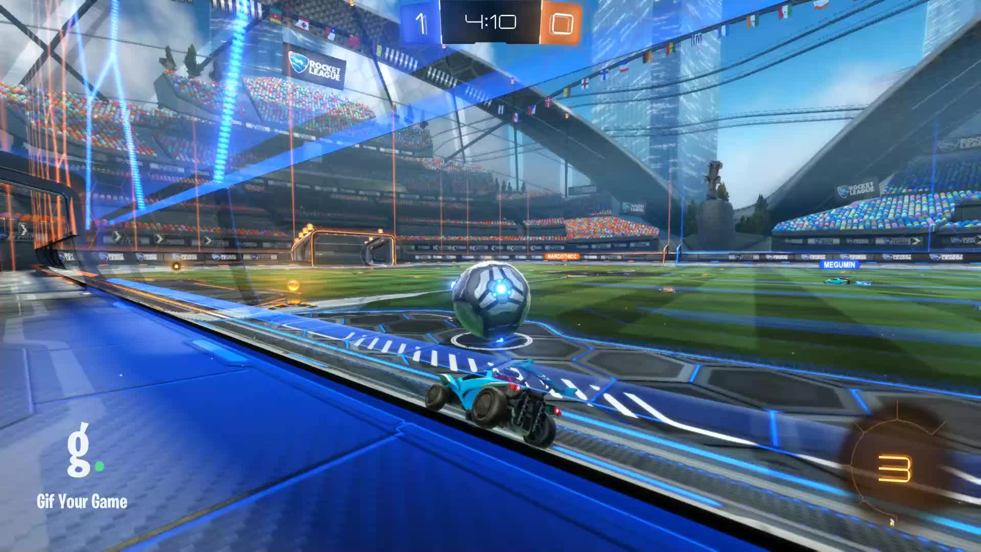 Gif Your Game, GifYourGame, Rocket League, RocketLeague, [Panthers] Absol, Assist 1: [Panthers] Absol GIFs