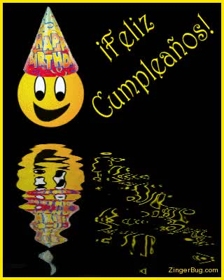 Watch and share Feliz Cumpleanos Reflecting Smile GIFs on Gfycat