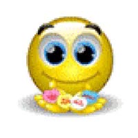 Watch and share Valentine Smiley Offers Heart Candy - Animated Emoticon GIFs on Gfycat