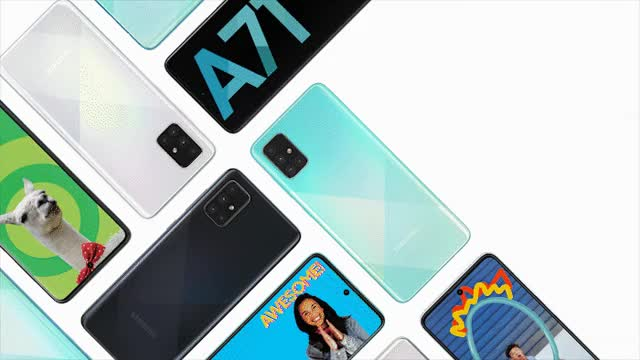 Watch and share Galaxy A71 Color Combo Animated KV Blue 16x9 Full GIFs on Gfycat