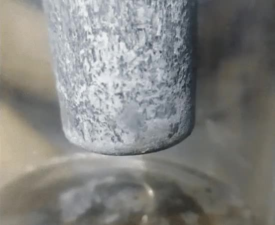 Watch and share Zinc Bar In Lead Diacetate Solution (reddit) GIFs by arbili on Gfycat