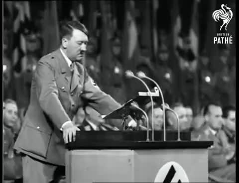 Watch and share Nazi Rally - Winter 1936 (1936) GIFs on Gfycat