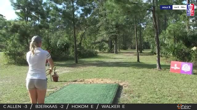 Watch 2018 Disc Golf Pro Tour Championship - Catrina Allen hole 5 drive GIF by Benn Wineka UWDG (@bennwineka) on Gfycat. Discover more Sports, dgpt, disc golf, disc golf pro tour GIFs on Gfycat