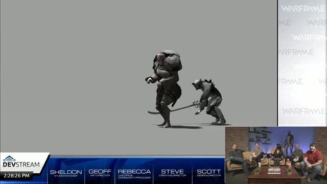 Watch and share Warframe Spooky Spooky Long Sword Sneak Attack GIFs on Gfycat