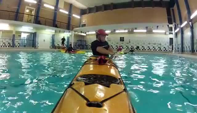 kayak roll, sea kayak, swimming pool, kayakroll GIFs