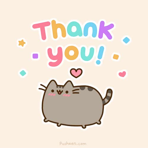 Watch and share Thank You GIFs and Pusheen GIFs on Gfycat