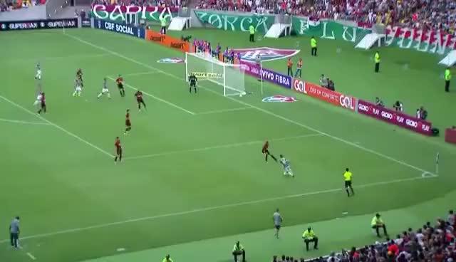 Watch and share Gol Cícero, Fluminense 1x1 Atlético Pr Brasileirão Série A 2016 Rodada 35° - 15/11/2016 GIFs on Gfycat