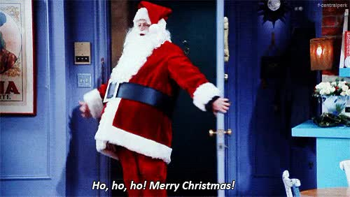 Watch and share Chandler Bing Father Christmas Friends GIFs on Gfycat