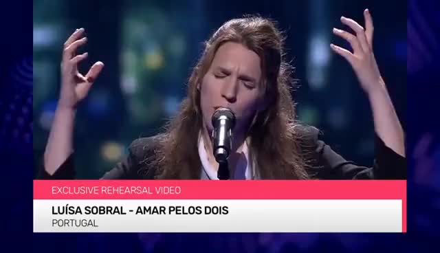 Watch and share Luísa Sobral - Amar Pelos Dois (Portugal) EXCLUSIVE Rehearsal Footage GIFs on Gfycat
