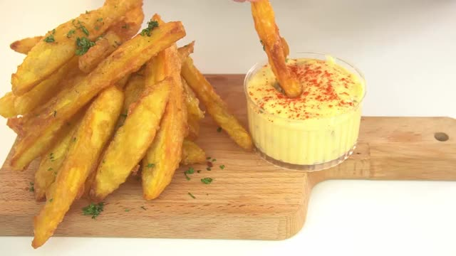 Watch and share Sweet Potato Fries And Jalapeño Cheese Dip | Simply Flavour GIFs by simply flavour on Gfycat