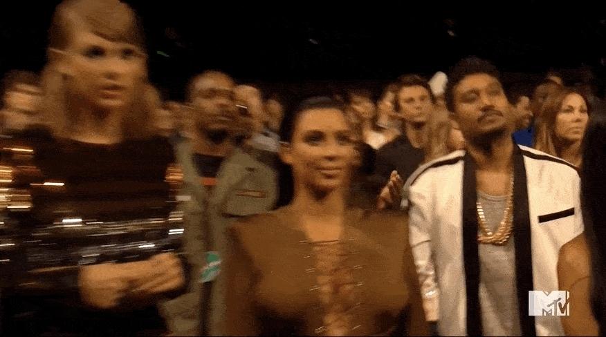 taylor swift, taylor swift kim kardashian vmas GIFs