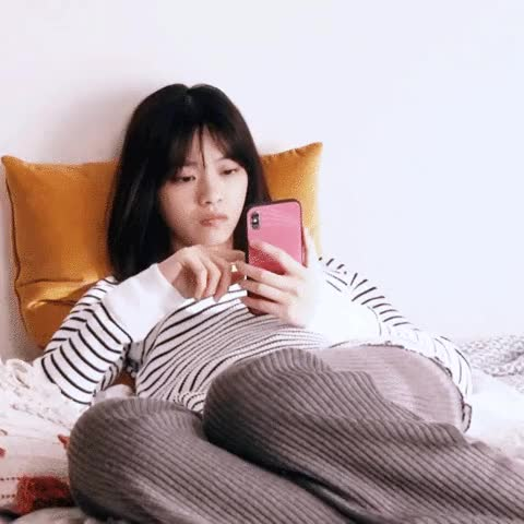 Watch and share Nanase Texting GIFs by pausitivity on Gfycat