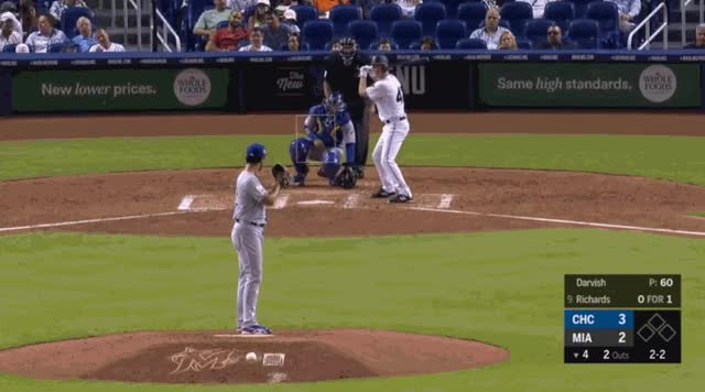 Watch Yu Darvish Slider 04-16-2019 GIF by @natewattpl on Gfycat. Discover more Chicago Cubs, Miami Marlins, baseball GIFs on Gfycat