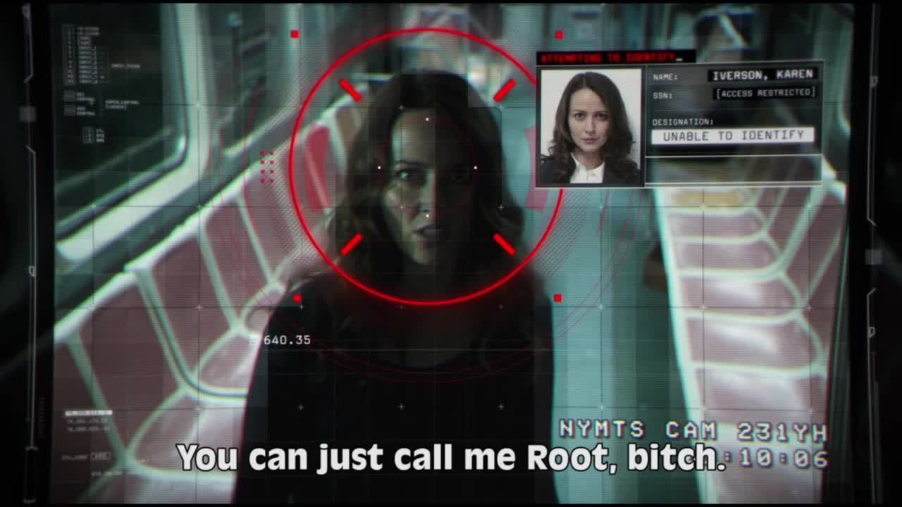 PersonOfInterest, highqualitygifs, personofinterest, You can just call me #ROOT, bitch. GIFs