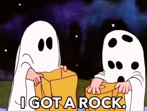 Watch this halloween GIF by The GIF Smith (@sannahparker) on Gfycat. Discover more charlie brown, disappointment, fail, great pumpkin, halloween, i got a rock, trick or treat GIFs on Gfycat