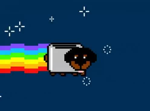 nyan cat, Nyan Cat...Meet Toaster Puppy GIFs