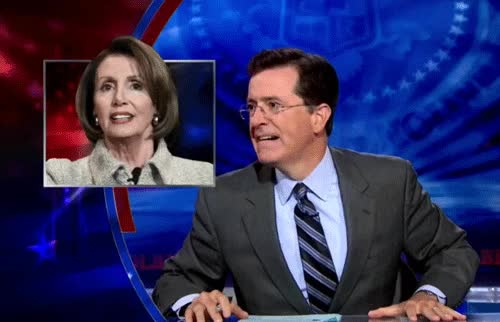 Watch this nancy pelosi GIF on Gfycat. Discover more nancy pelosi, politics, stephen colbert GIFs on Gfycat