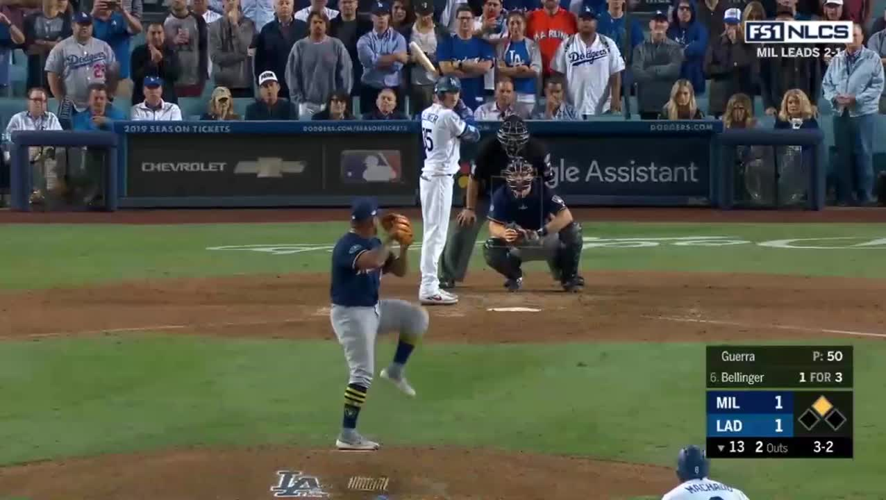brewers game october 16, brewers game today, dodgers game october 16, dodgers game today, dodgers highlights today, dodgers vs brewers october 16, dodgers vs brewers today, los angeles dodgers, milwaukee brewers, mlb, Milwaukee Brewers vs Los Angeles Dodgers Highlights || NLCS Game 4 || October 16, 2018 GIFs