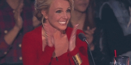 applause, britney spears, celebs, clap, clapping, respect, slow clap, Britney Spears Clapping GIFs