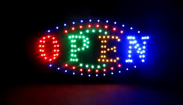 Watch and share LED OPEN SIGN For RESTAURANT/STORE/BUSINESS REVIEW GIFs on Gfycat