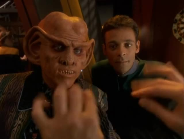 Watch Easter on DS9 GIF by Star Trek gifs (@star-trek-gifs) on Gfycat. Discover more Alexander Siddig, Armin Shimerman, Easter, Ferengi, Julian Bashir, Quark, Star Trek, Star Trek: DS9 GIFs on Gfycat