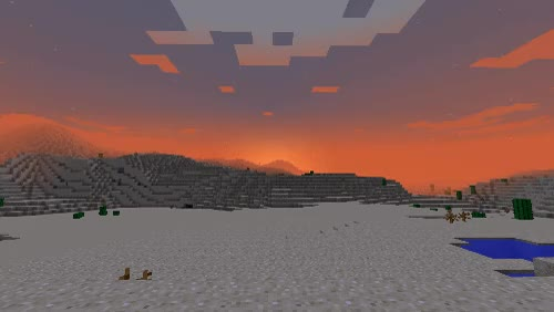 Watch and share Minecraft Sunrise Gif GIFs on Gfycat