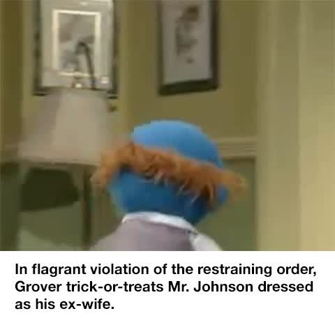 bertstrips, The judge ruled that Mr. Johnson was not liable for Grover's hospital bill. GIFs
