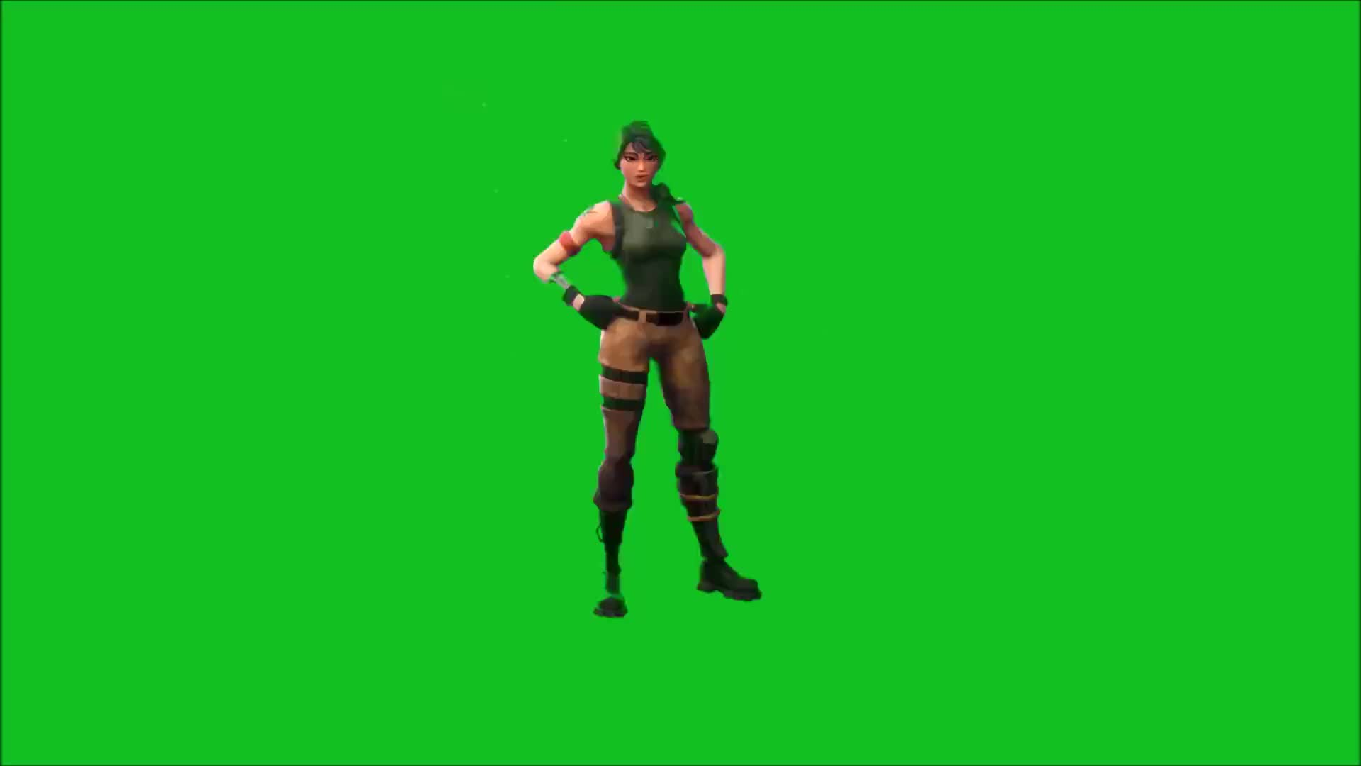Basic Fortnite Dance Greenscreen