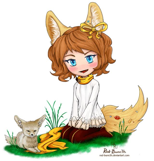 Watch and share Chibi Fox By Red-Bunn3h GIFs on Gfycat