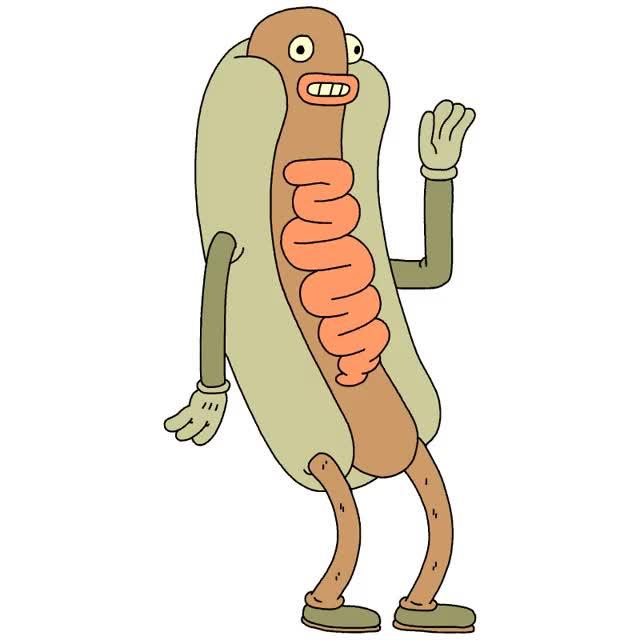Watch this hello GIF by ioanna on Gfycat. Discover more adios, bye, funny, goodbye, hello, hey, hi, hotdog GIFs on Gfycat