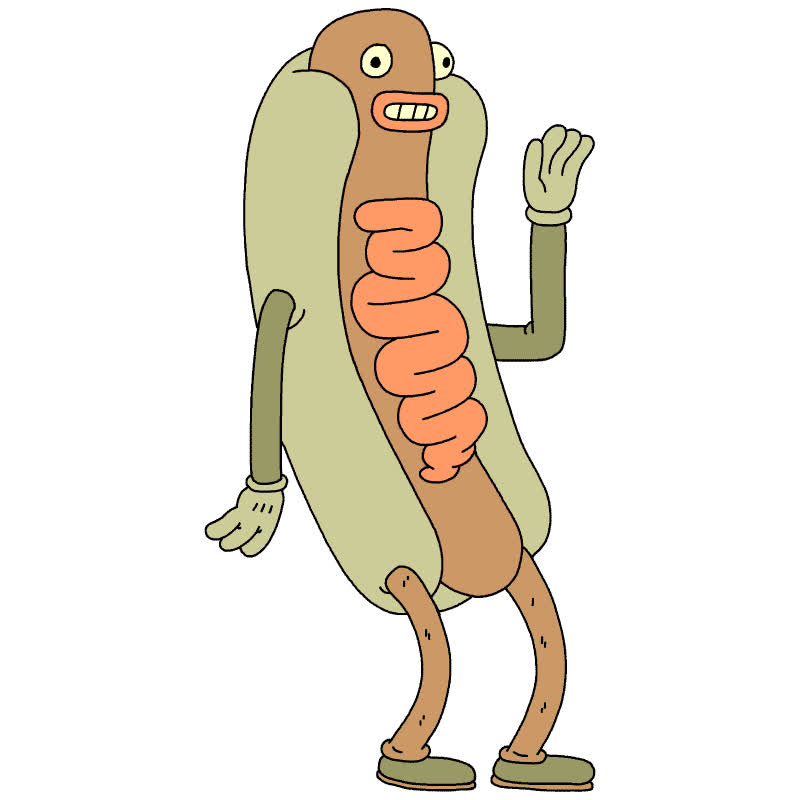 adios, bye, funny, goodbye, hello, hey, hi, hot dog, hotdog, wave, Hi hotdog GIFs