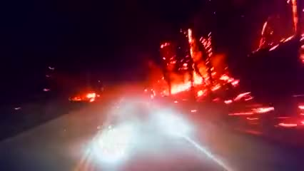 Watch Driving through forest fire GIF on Gfycat. Discover more Driving, Flames, adrenaline, adrenaline rush, dare devils, fire, forest fire, highway GIFs on Gfycat