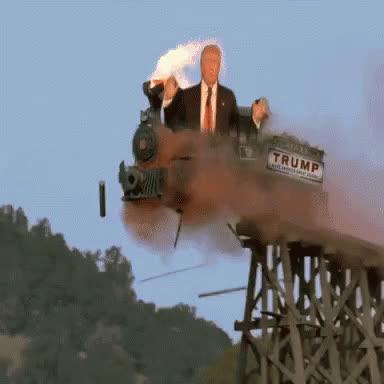 train, trains, transportation, Trump Train GIFs