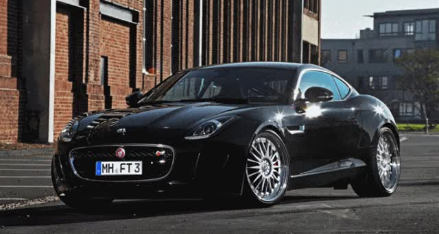Watch and share 2015 Jaguar F-Type S Coupe Wheels Upgrade By Best Cars/Schmidt Revolution GIFs on Gfycat