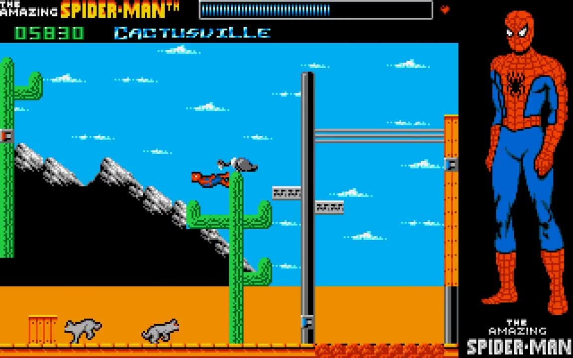 absolute longplay, amiga, gaming, oxford digital enterprises, paragon software, The Amazing Spider Man 1989 GIFs