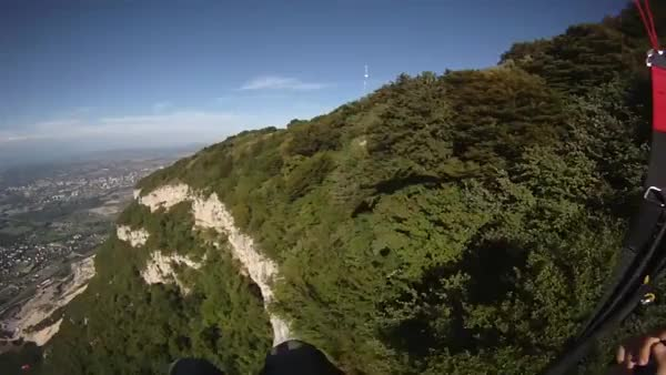 Watch and share Paragliding Above A Tree Covered Ridge With A Week's Worth Of Experience, WCGW? (reddit) GIFs on Gfycat